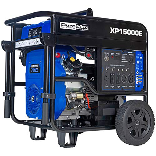 DuroMax XP15000E Portable Generator, Blue/Black