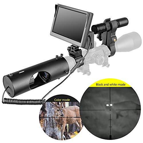 MUJING Infrarot LED IR Nachtsicht-Zielfernrohr Jagdfernrohre Optik Visier wasserdichte Jagdkamera Jagd Wildlife Night Visi