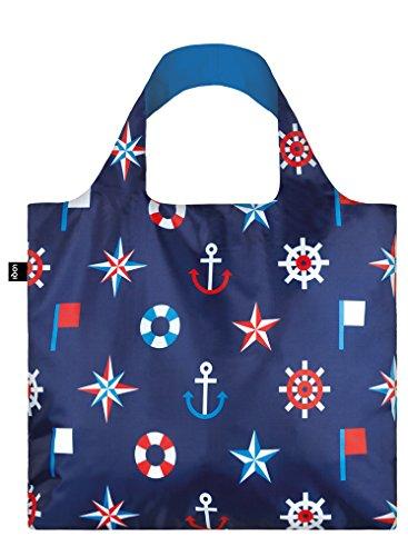 LOQI Artist Nautical Classic Bag Strandtasche, 50 cm, 20 liters, Mehrfarbig (Multicolour)