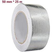 Cinta adhesiva Cinta de aluminio Cinta de protección térmica resistente al calor, resistente a la rotura a los rayos UV Cintas Aluband con una tela de malla de vidrio para calafatear o embutir 5cm*25m