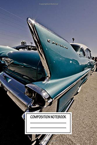 Composition Notebook: Vintage Posters Cadillac Style Auto Wide Ruled Note Book, Diary, Planner, Journal for Writing