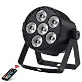 Stage Light, OPPSK Par Light with 24W 6LEDs RGBW 4in1 Full Color Stage Lighting Remote DMX Control Sound Activated for Church Wedding DJ Live Show Party Halloween Christmas
