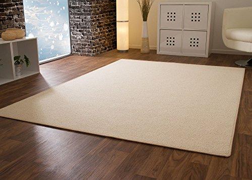 Designer Teppich Modern Berber Wellington in Beige, Größe: 80x160 cm