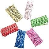 Corbatas Para Bolsas De Dulces Colores Twist Lazos Lazos De Bolsas De Pastel Lazos De Galleta Corbatas De Galletas Sellado De Lazos Candy Bag Ties Colors Twist Ties Corbatas De Pan(600pcs)