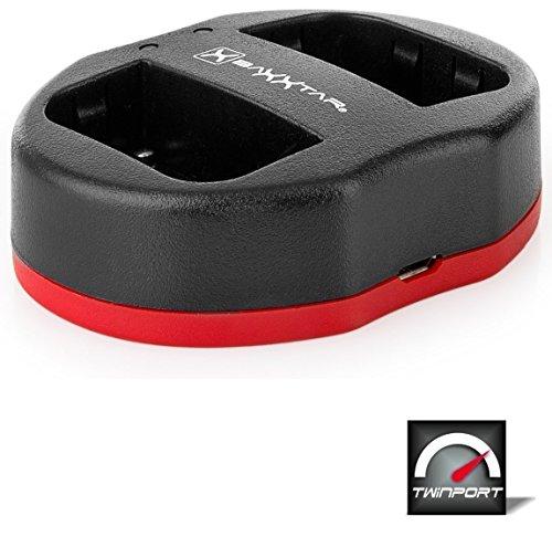 Baxxtar Twin Port 1830 - kompatibel für Akku Sony NP-FM500H NP-F550 - USB Dual Ladegerät -