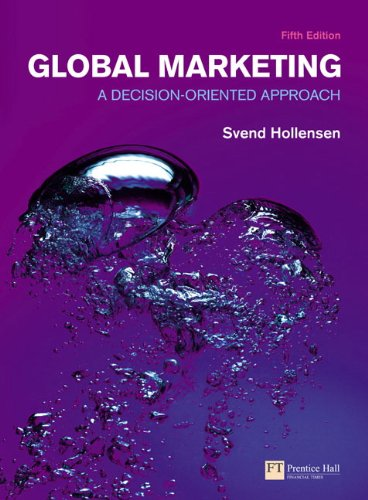 Global Marketing: A decision-oriented approach (5th Edition) (Financial Times (Prentice Hall)) -  Hollensen, Svend, Paperback