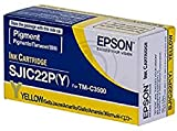 Epson SJIC22P(Y) - Cartucho de tinta para impresoras (Amarillo, Epson TM-C3500 Epson TM-C3500 (012))