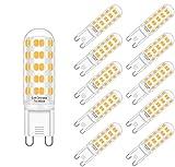 Eofiti LED G9 Dimmable, Ampoule G9 LED Dimmable 7W Équivalent à 50W Halogène G9 led 2700k Blanc Chaud 230V Lumière 560LM Lumineux Lampe G9 LED 360°Larges Angle de Faisceau 64 * 2835 SMD Lot de 10
