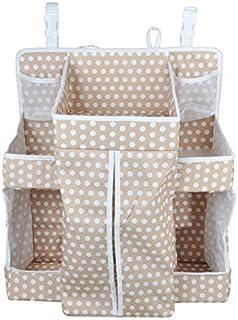 DEWEL baby bed storage hanging bag storage bag side pouch pocket diaper storage bag toys storage bag put away the glove co...
