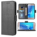 Compatible with Samsung Galaxy J5 2016 Folio Flip Wallet Case,PU Leather Credit Card Holder Slots Heavy Duty Full Body Protection Kickstand Protective Phone Cover for Glaxay GalaxyJ510 Cases Black