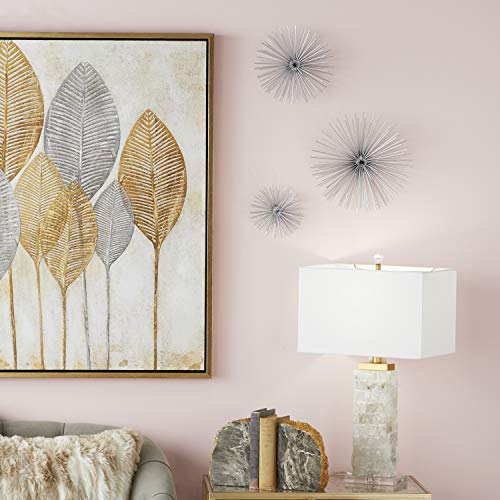 """CosmoLiving by Cosmopolitan 50373 Contemporary Style 3D Round Copper Metal Starburst Wall Decor Sculptures 