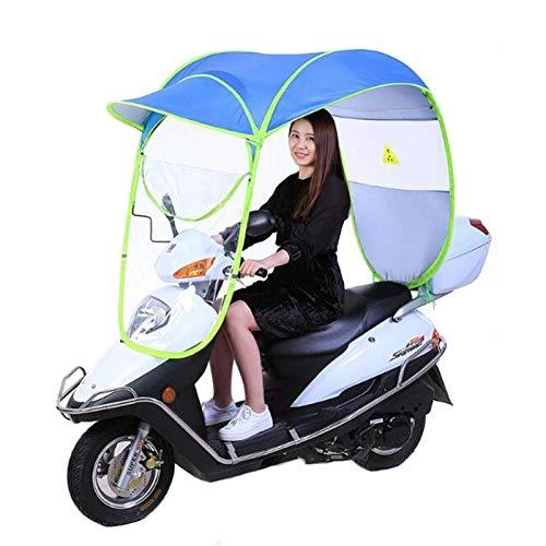 BGSFF Paraguas eléctrico para Motocicleta, toldo, para Bicicleta, Impermeable, para Scooter, para Lluvia, Parasol, para Lluvia, Parasol, Parasol, Parabrisas, para Motocicleta, Universal,