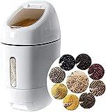 Recipiente de almacenamiento de arroz de 10 kg, dosificador automático de alimentos de arroz, recipientes de cereales, dispensadores, caja sellada de grano seco, tanque para mantener la comida libre