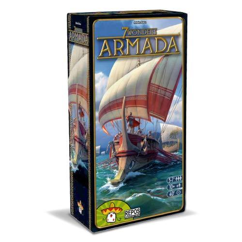 Asmodee - 7 Wonders: Armada, expansión Juego de Mesa, edición en Italiano, 8038