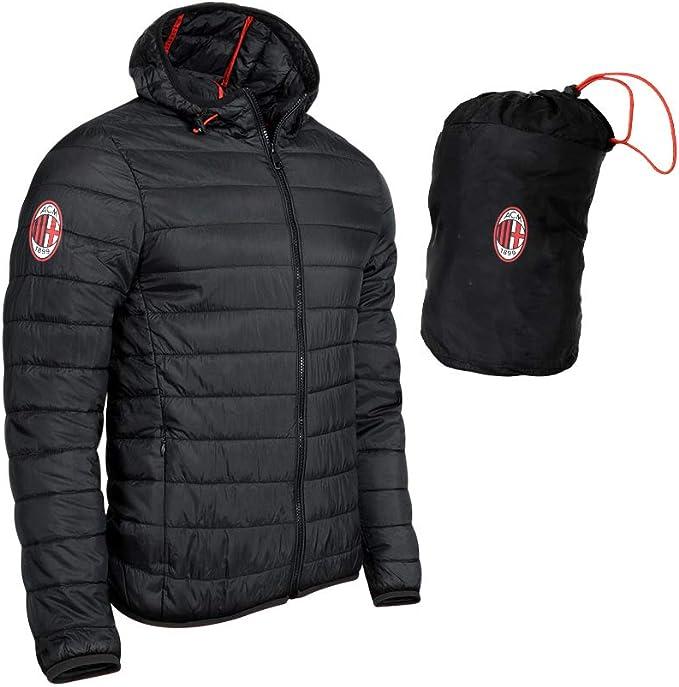 Giacca Uomo Ultralight AC Milan Nera Personalizzabile PS 27871 ...
