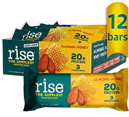 Rise Whey Protein Bars - Almond Honey | Healthy Breakfast Bar &...