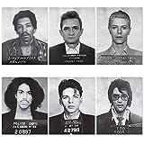 Celebrity Mugshot Poster Vintage Rock Posters - 8x10 UNFRAMED - Jimi Hendrix...