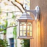Lámparas de pared de metal IP23 impermeables para exteriores,...