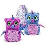 Hatchimals Hatching Egg Interactive Creature Owlicorn Baby Toy, Pink/Blue
