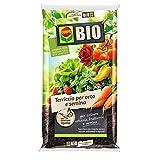 Bio Blumenerde für Gemüsegarten und Aussaat, 80 Liter