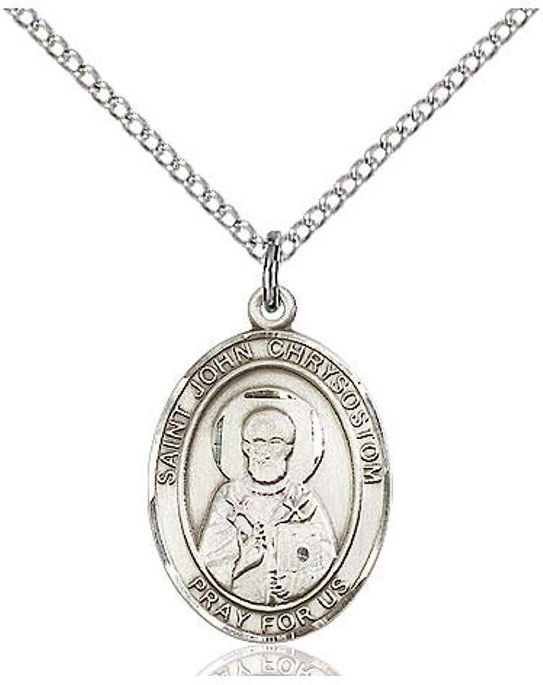 DiamondJewelryNY Sterling Super special price Silver St. Chrysostom Pendant John Max 47% OFF