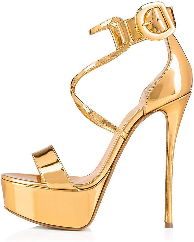 Women's Peep Toe Heeled Sandals Slingback High Heel Stiletto Pumps for Party Dress