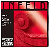 Thomastik Infeld Red 4/4 Violin String Set - Medium Gauge with Removable Ball End Gold-plated Steel E