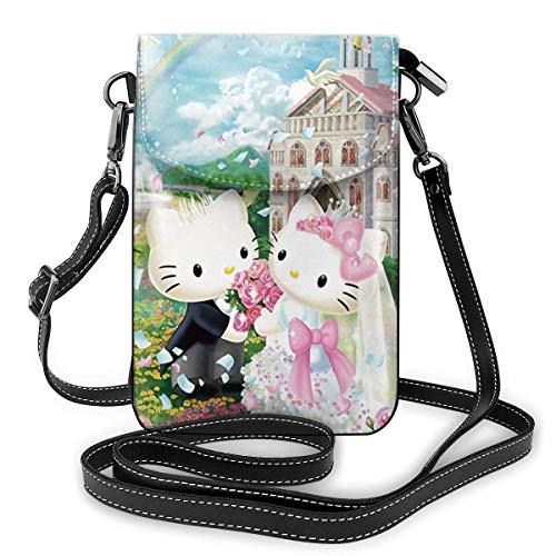 Hello Kitty Telefon Geldbörse Damen Crossbody Handtaschen Leichte Taschen Damen Geldbörse Leder Handy Holster Brieftasche Fall Shou