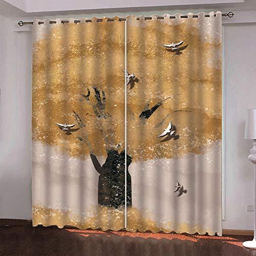 YJRXSS Cortinas Aislantes Pabellón 2 X W 75 X L 166 Cm para Dormitorio Salón Habitación Comedor con Aislamiento Térmico para Decoración De Ventana 2 Paneles