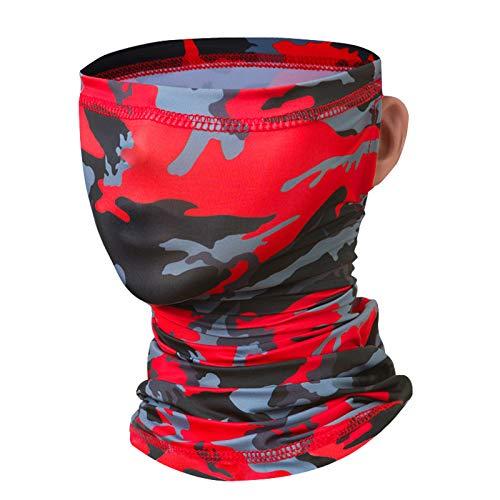 Idefair Mascarilla Cuello Polaina, Protección Solar UV Máscara de Pesca Máscara de Ciclismo Unisex Bufanda a Prueba de Viento Protector Solar Tubo de Cuello para Senderismo Motos Correr