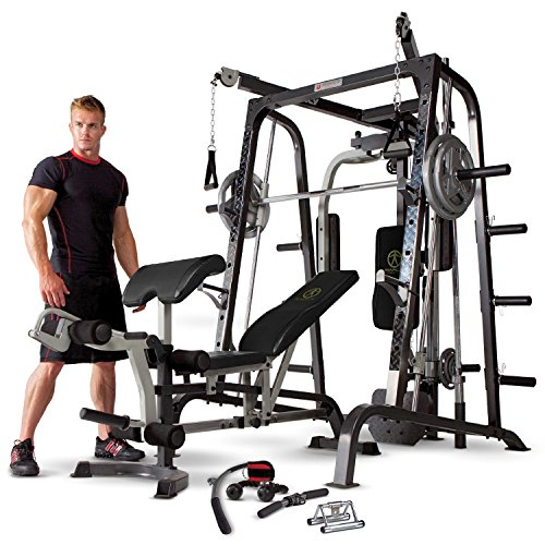 3. Marcy Smith Cage Workout Home Gym System with Linear Bearing MD 9010G