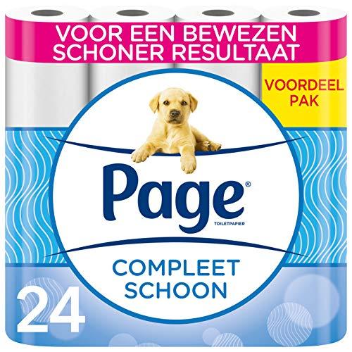 Page wc papier - Compleet Schoon toiletpapier - 24 Rollen - Voordeelverpakking