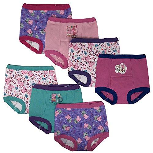 Handcraft Peppa Pig Girls Potty Training Pants Panties Underwear Toddler 7-Pack Size 2T
