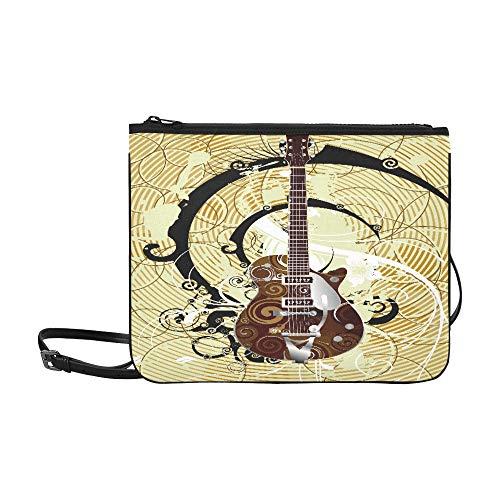 Yushg Bolso de señora Retro Música Guitarra Lunares Vintage Correa de hombro...