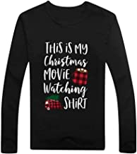 FONMA Women Casual Color Stitching T-Shirt Christmas Print Long Sleeve Tops Blouses