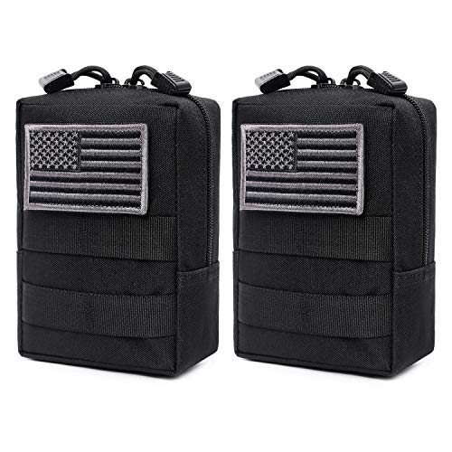 Tactical Molle Pouch Large Capacity Zipper Bag Outdoor Backpack Attachment KW