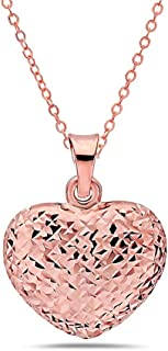 Best 14k solid gold heart pendant Reviews