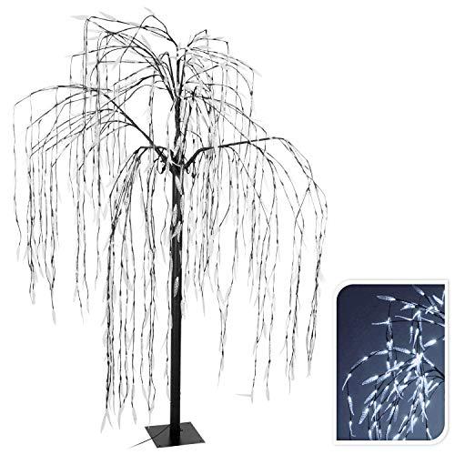Lichterbaum mit 810 LED kaltweiß mit Flashlights für den Glitzereffekt 210 cm Trauerweide
