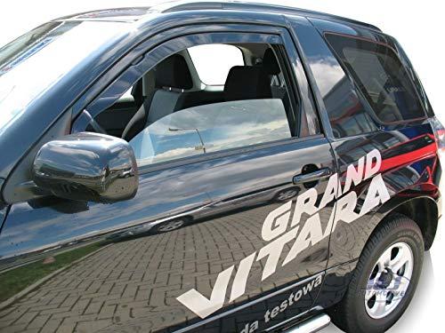 J&J AUTOMOTIVE | Deflecteurs d'air Déflecteurs de Vent Compatible avec Grand Vitara 3 Portes 2005-2015 2pcs