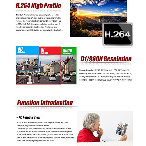 (5 in 1) ANRAN 16CH Security DVR 1080N AHD NVR HD Digital Video Recorder XVR for CCTV Security Camera System Support Mobile Phone Monitoring,Motion Detection,Real time Recording ,No HDD