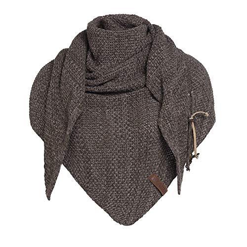 Knit Factory Damen Dreieckschal Coco braun taupe 190x85 cm