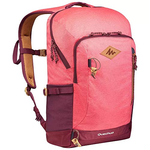 Quechua Rucksack Rosa Wanderrucksack NH500 20 Liter Naturwandern inkl. Schutzhülle Schule Arbeit Sport Outdoor Herren Frauen Unisex stabil
