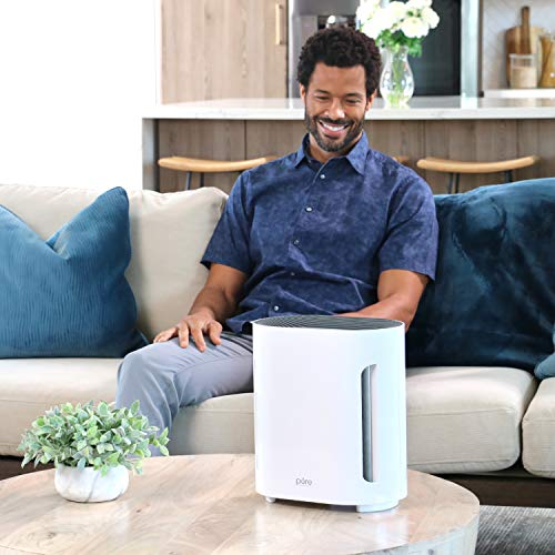 Pure Enrichment PureZone Air Purifier - 3 Stage Filtration Cleans 99.97% of Air Particles with True HEPA Filter + UV-C Sanitizer, Relieves Smoke, Dust, and Helps Alleviate Allergies