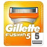 Gillette Fusion5 Maquinilla De Afeitar, 5 Recambios, 5 Hojas Antifricción, Para...