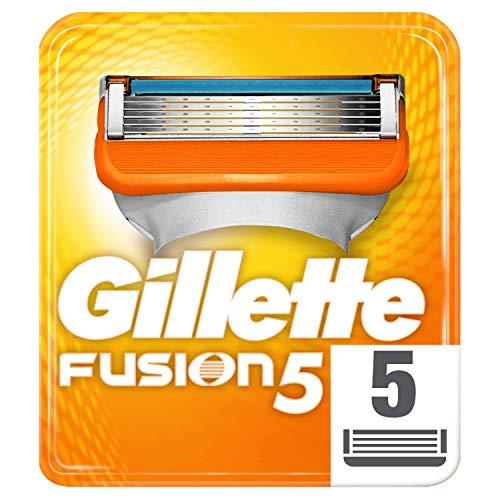 Gillette Fusion5 Maquinilla De Afeitar, 5 Recambios, 5 Hojas Antifricción, Para Un Afeitado Imperceptible