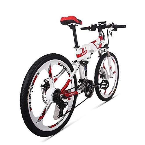 MEICHEN Nuovo 36V * 250W Bici elettrica Ibrida Montagna Bicicletta elettrica a Tenuta stagna Telaio Interno Li-on 12.8Ah Batteria Pieghevole ebike