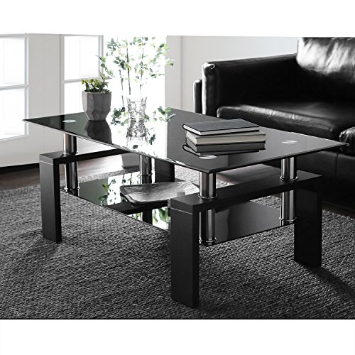 Mesa de centro de cristal templado, mesa auxiliar, mesa de café, mesa...