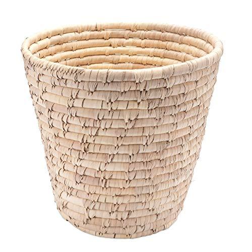 Papierkorb Palmblatt Ø 30cm - Natur - Handarbeit - Fair Trade