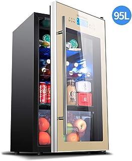 BUDBYU Refroidisseur à vin intégré de 95 L avec Deux Zones de Refroidissement, réfrigérateur à Boissons Autonome avec Port...