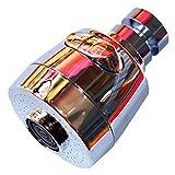Robinet de robinet de robinet de fixation à 360 ° en acier inoxydable chromé poli pour robinet de cuisine et salle de bain eau chaude froide (argent